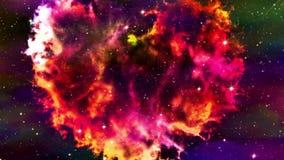 Vuelo a través del corazón de la nebulosa stock de ilustración