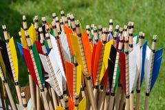 Vuelos coloridos de la flecha fotografía de archivo libre de regalías