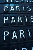 Vuelos a París, Francia fotografía de archivo libre de regalías