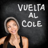 Vuelta al cole - Spanish student back to school Stock Images