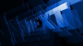 Vuelta azul SIGUIENTE del texto 3D ilustración del vector