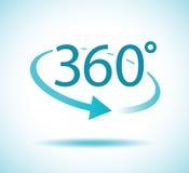 vuelta de 360 grados stock de ilustración