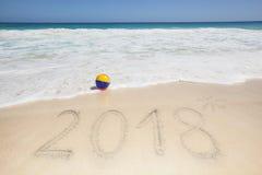 Vuelta de la playa del año Imagen de archivo libre de regalías