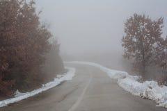 Vuelta de niebla Foto de archivo libre de regalías
