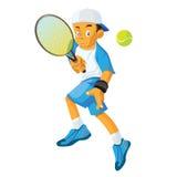 Vuelta de una pelota de tenis Imagen de archivo libre de regalías