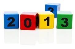 Vuelta del año a partir de 2012 a 2013 Fotos de archivo