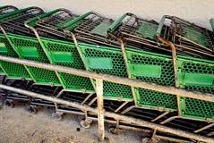 Vuelta del carro de compras Foto de archivo libre de regalías
