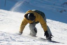 Vuelta del Snowboarder Imagenes de archivo