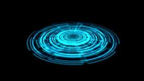Vuelta porta del vórtice del holograma de Tron en el color azul de tierra ilustración del vector