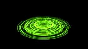 Vuelta porta del vórtice del holograma de Tron en el color verde de tierra ilustración del vector