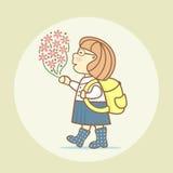 Vuelva a la escuela libre illustration