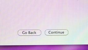 Vuelve, continúa, MaOS de Apple de los botones en los ordenadores de iMac metrajes