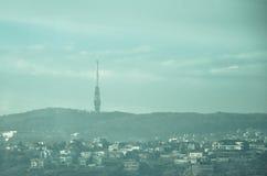 Vues à l'émetteur Kamzik de Bratislava Photos libres de droits