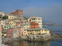 Vues étonnantes au bord de la mer de Gênes Photographie stock libre de droits