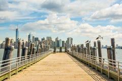 Vues étonnantes pour abaisser Manhattan Photos stock