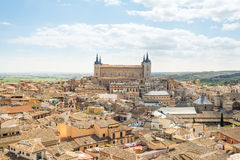 Vues aériennes à la ville historique de Toledo, Espagne Photos libres de droits