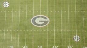Vues aériennes de Sanford Stadium photographie stock