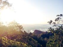 Vues au-dessus de la colline Photographie stock
