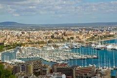 Vues au-dessus de Palma Image libre de droits
