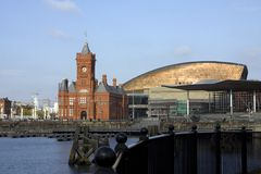 Vues autour de compartiment de Cardiff Photographie stock libre de droits