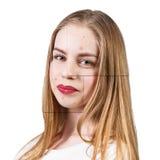 Vues avec la peau de problème sur le visage de femme Photo libre de droits
