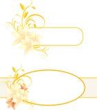 Vues avec les lis et l'ornement floral Photos stock