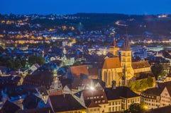 Vues d'Esslingen AM le Neckar du château, Allemagne images libres de droits