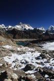 Vues d'Everest de passage de Renjo, Népal. photos libres de droits