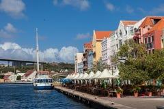 Vues de bord de mer de Handleshank autour d'île des Caraïbes du Curaçao Photos stock