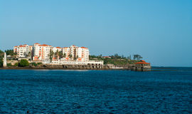 Vues de bord de mer de Mombasa Photographie stock