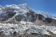 Vues de camp de base d'Everest Images stock
