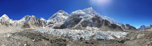 Vues de camp de base d'Everest Photographie stock