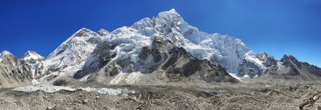 Vues de camp de base d'Everest Photographie stock libre de droits