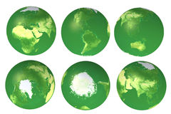 vues de globe de l'eco 3d Photos stock
