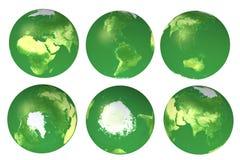 vues de globe de l'eco 3d Photos stock