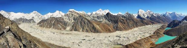 Vues de Gokyo Ri, parc national de Sagarmatha, vallée de Khumbu, Népal Image libre de droits