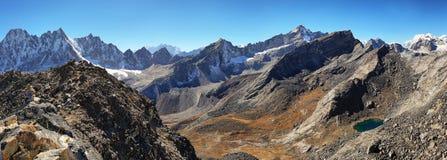 Vues de Gokyo Ri, parc national de Sagarmatha, vallée de Khumbu, Népal Photo libre de droits