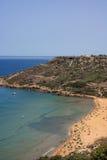 Vues de Gozo, baie de Ramla Images libres de droits