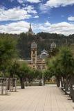 Vues de l'hôtel de ville de San Sebastian, Espagne Images stock
