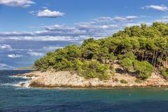 Vues de la Croatie Île hvar Images libres de droits