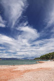 Vues de la Croatie Plage sur l'île Hvar Image stock