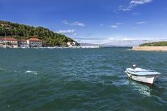 Vues de la Croatie Port sur l'île Hvar Image libre de droits