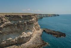 Vues de la Mer Noire, cap de Tarhankut Images stock