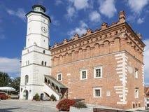 Vues de la Pologne Vieille ville dans Sandomierz Photo libre de droits