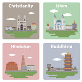 Vues de la ville Images libres de droits