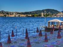 Vues de lac Como Photos libres de droits
