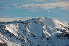 Vues de massif neigeux de Schoener Mann de Schwarzenberg images libres de droits