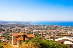 Vues de mer des montagnes Photo stock