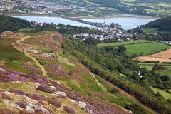 Vues de montagne de Conwy Photos libres de droits