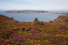 Vues de montagne de Conwy Images libres de droits